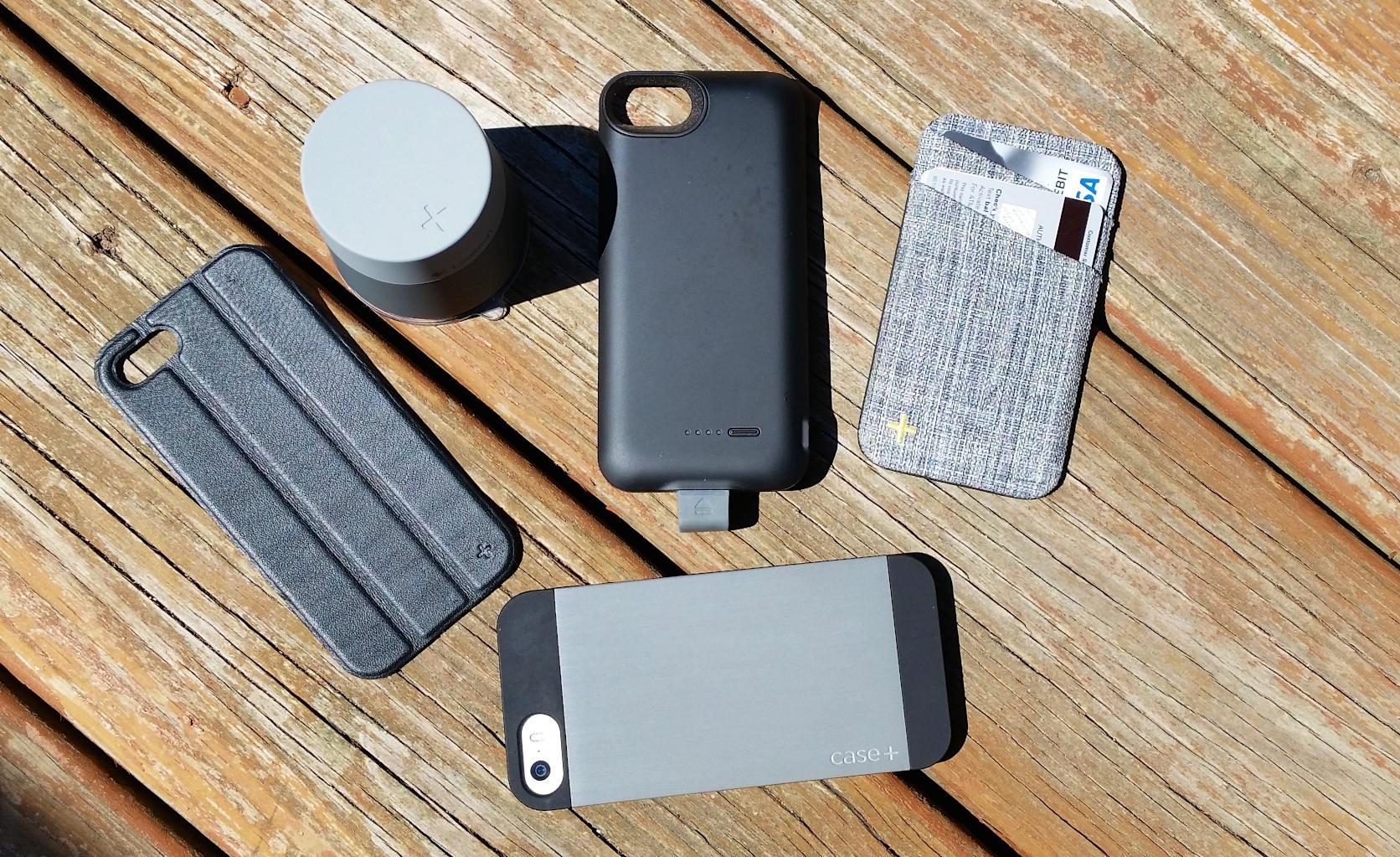 Чехол для iPhone 5S или iPhone 5 с аккумулятором, кошельком и подставками
