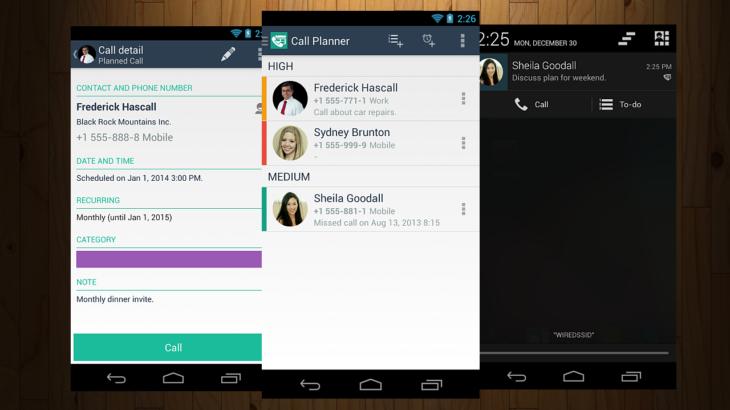 Call Planner — приложение на Андроид для напоминания о звонках