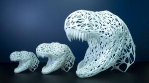 Трехмерный череп динозавра, как украшение интерьера