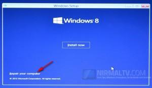 Как восстановить Windows 8 из меню загрузки