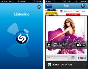 Автоматическое распознание музыки на iPhone при поддержке Shazam