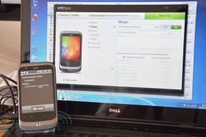 Синхронизация HTC с компьютером через программу HTCSync