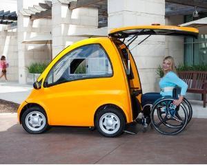 Кенгуру: компактный электромобиль для инвалидов-колясочников