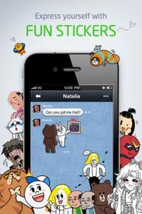 Приложение Line: бесплатные текстовые сообщения и звонки