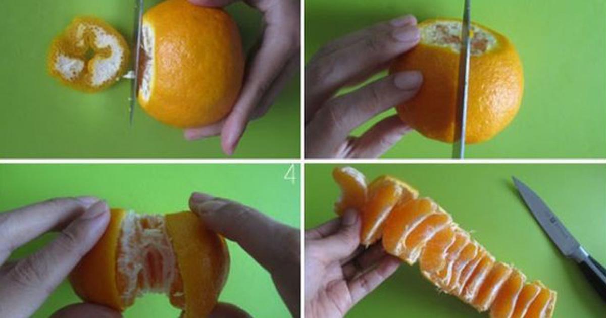 Самый быстрый способ почистить мандарин: кожуру снимать не надо