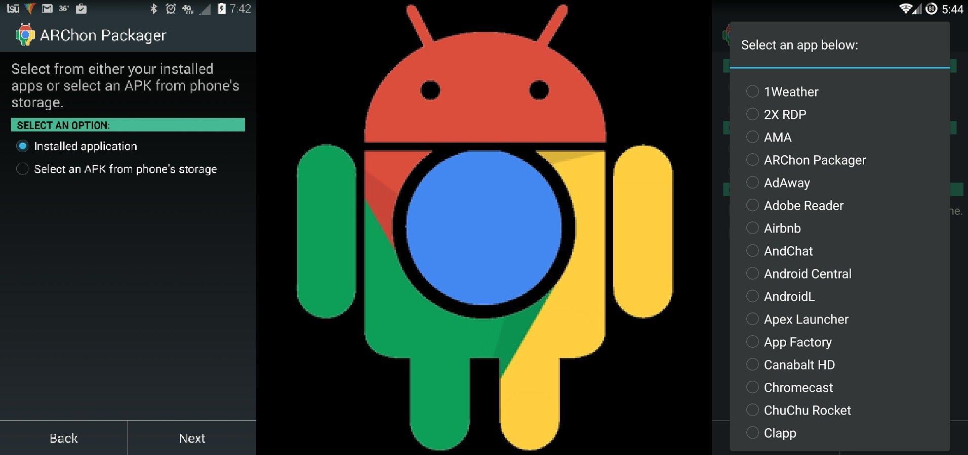 ARChon: простой и удобный запуск приложений Android на компьютере