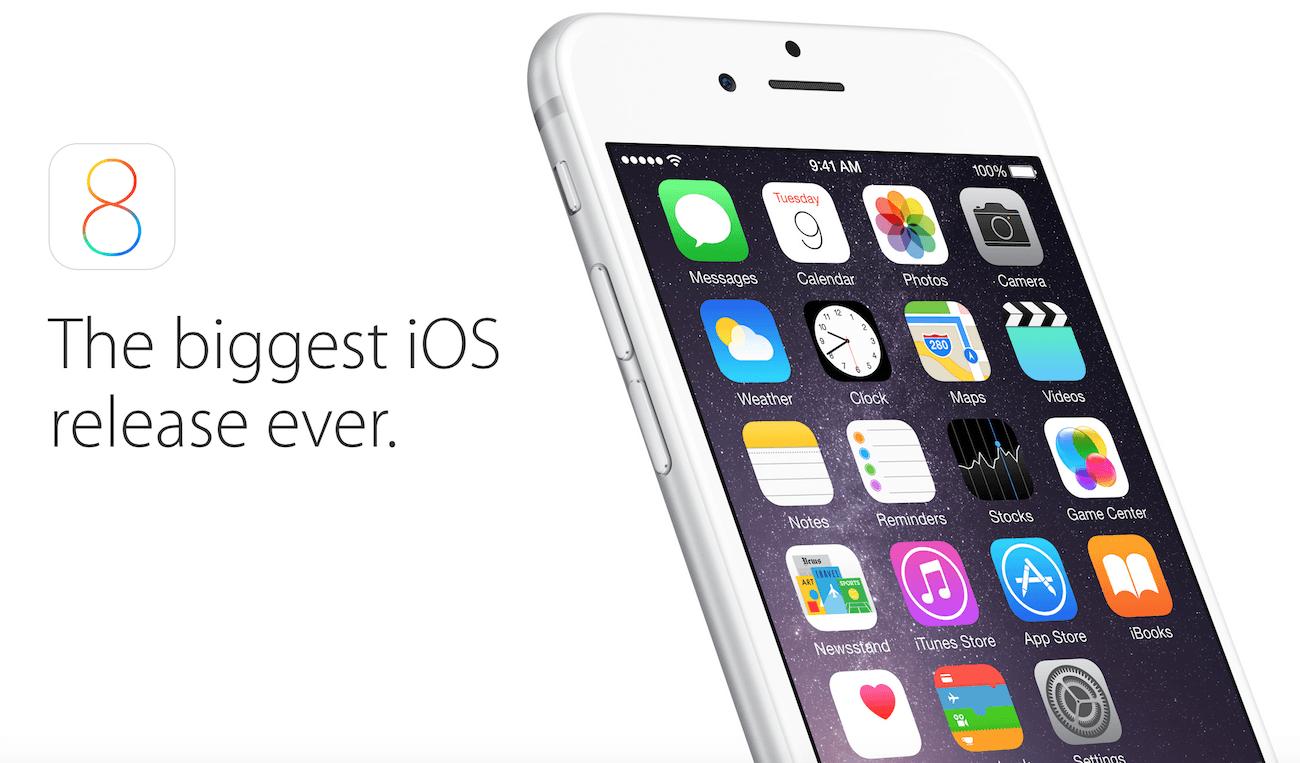 Что изменилось в Apple iOS 8 по сравнению с iOS 7