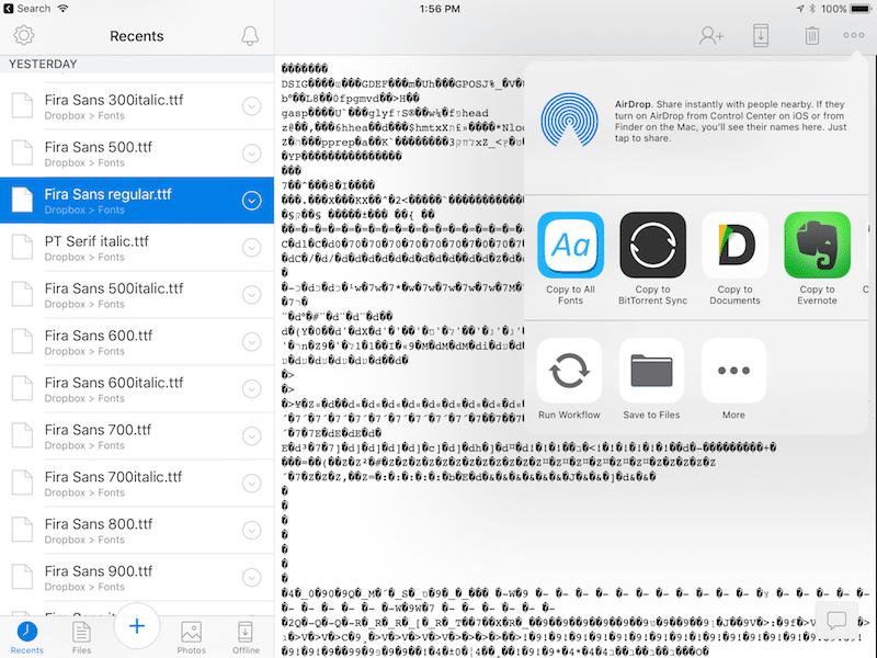 Как просто добавить новый шрифт в iPhone или iPad: используйте AnyFont