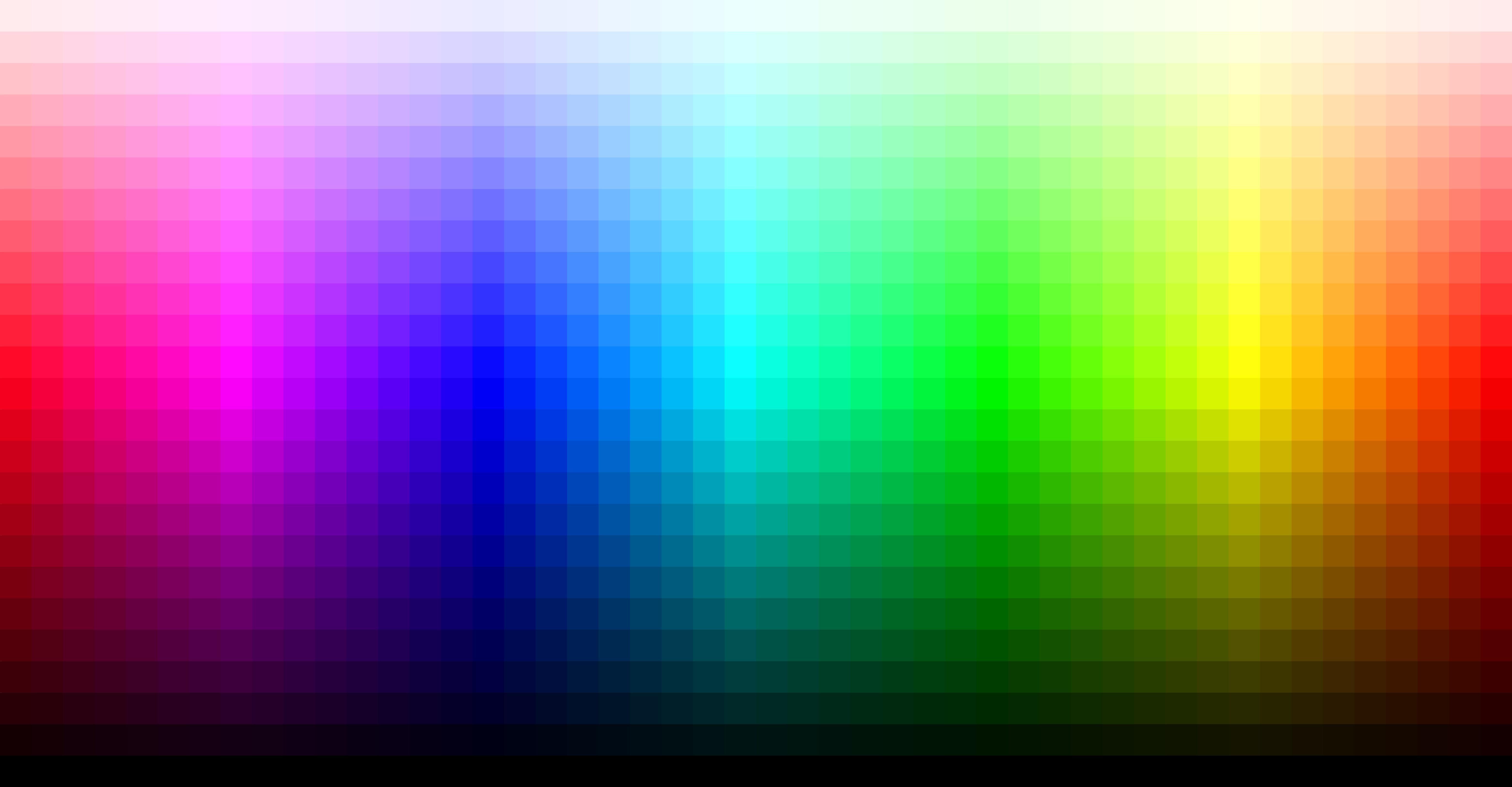 Весь спектр RGB на одной картинке