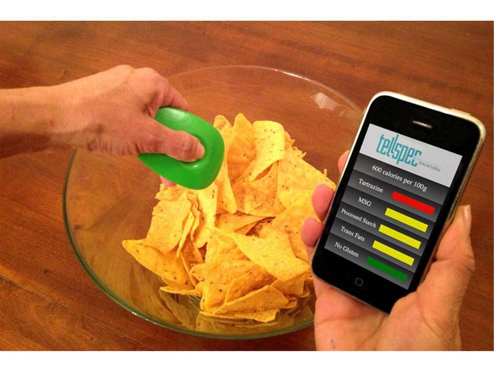 TellSpec идентифицирует состав пищи и подсчитывает калории