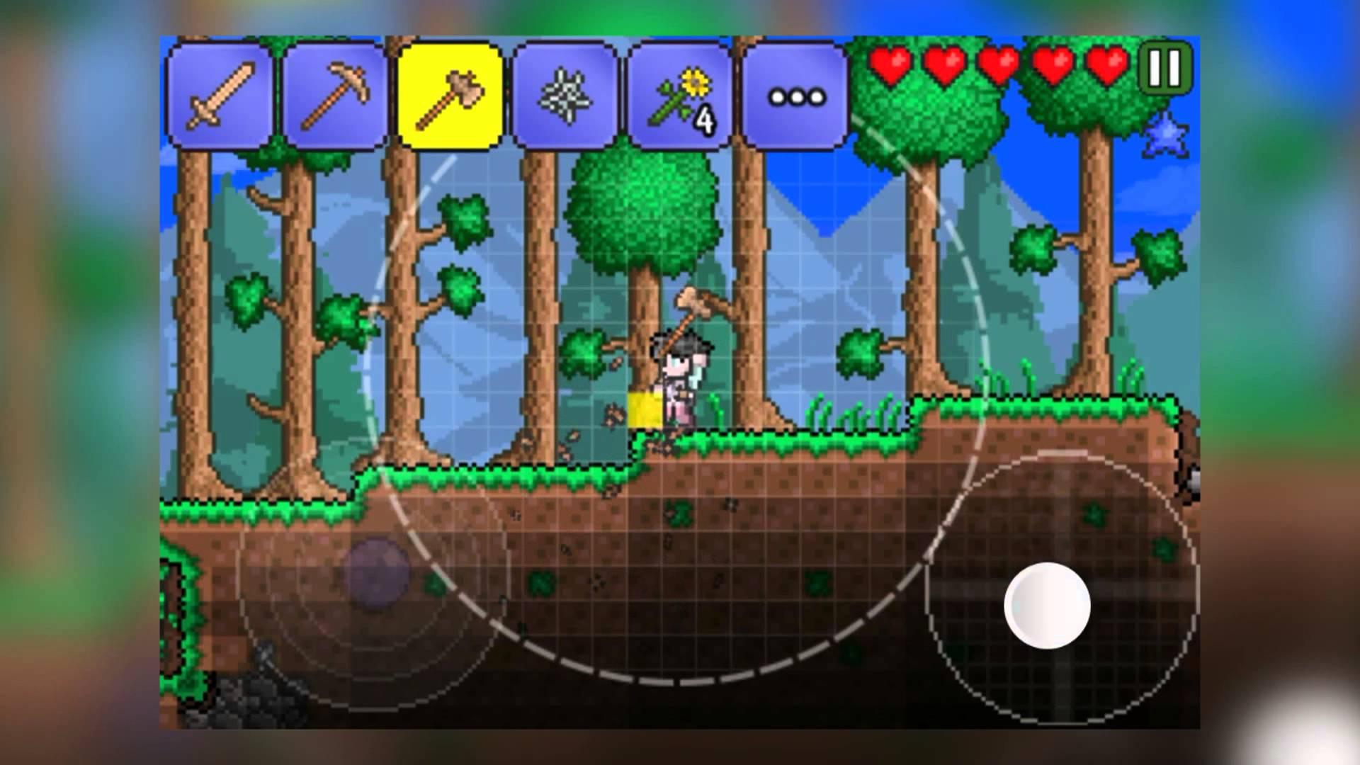 Terraria для iPhone и iPad: красивая игра с недостатками в управлении