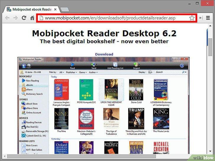 Программа для чтения ePub на компьютере: Mobipocket Reader Desktop