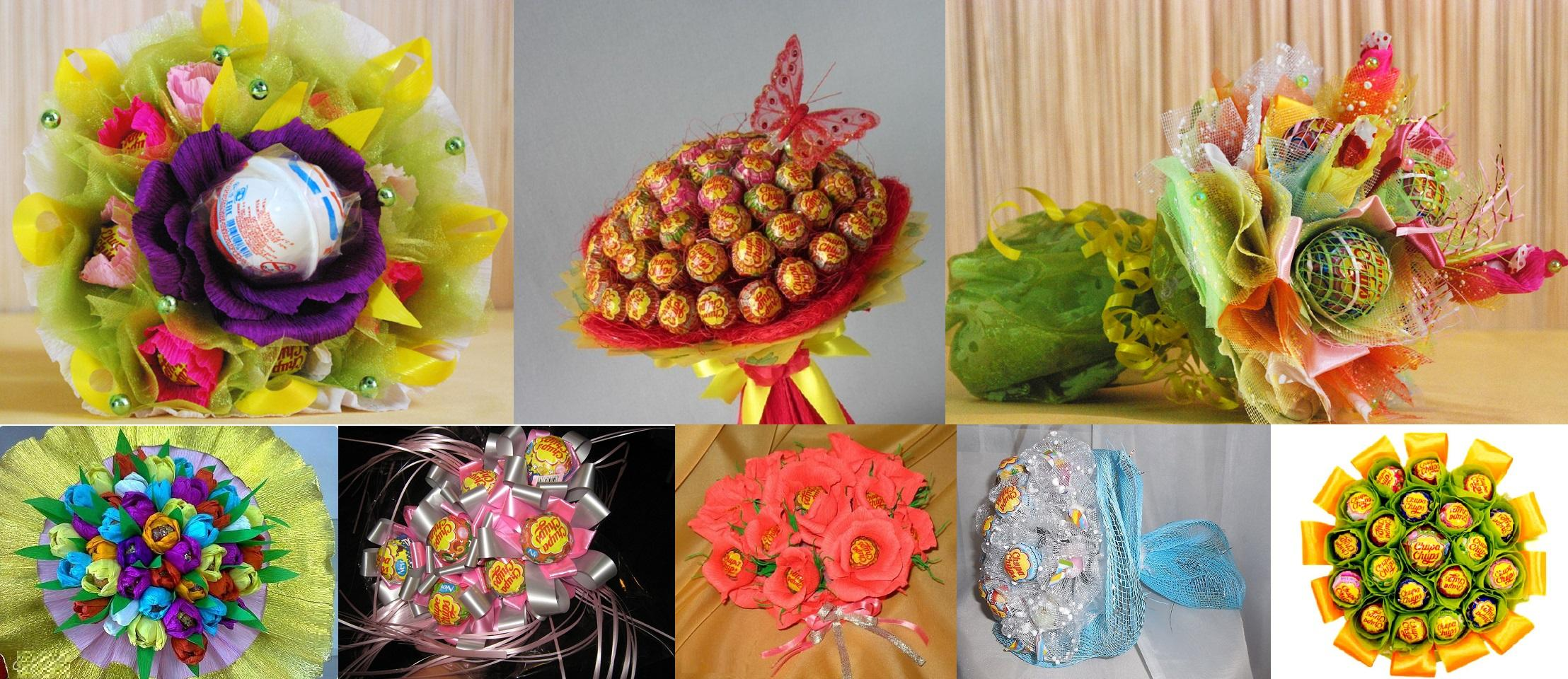 КАК СДЕЛАТЬ БУКЕТ ИЗ КОНФЕТ СВОИМИ РУКАМИ: украшаем праздничный стол | Инструкция по изготовлению букета из конфет своими руками