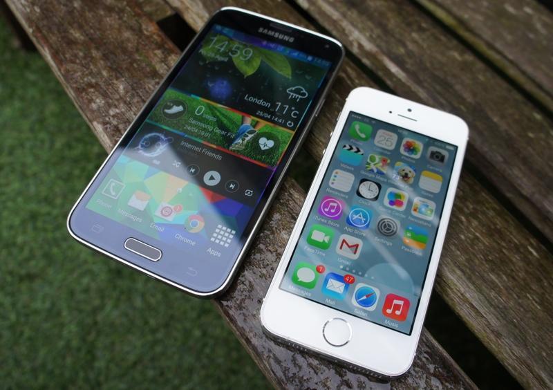 5 характеристик, по которым Galaxy S5 лучше iPhone 5S и наоборот
