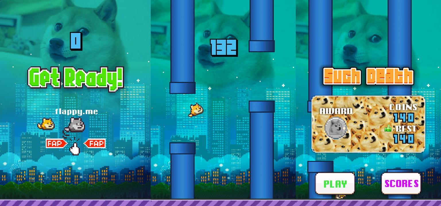 Альтернатива игре Flappy Birds: Flappy Doge ничем не хуже