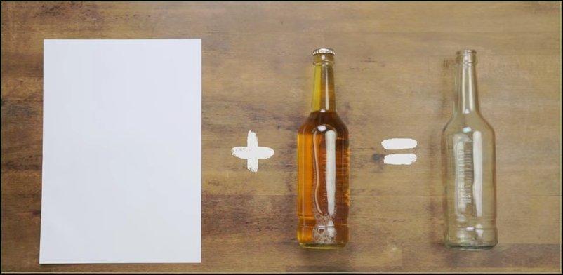 Открываем пиво листом обычной бумаги