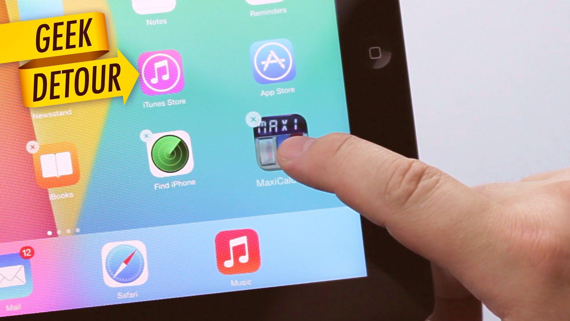 Как удалить программу с iPad