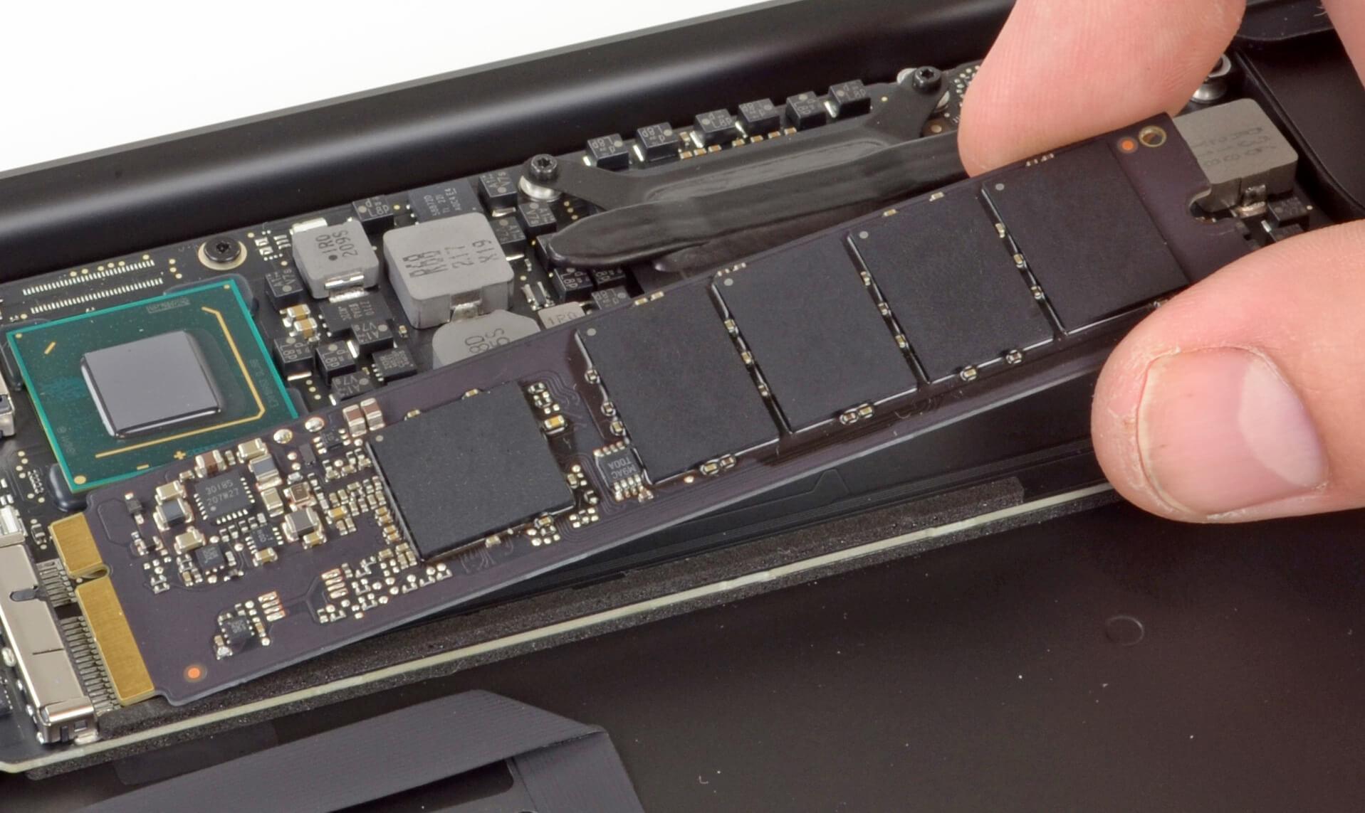 Как поставить новый SSD в MacBook Pro