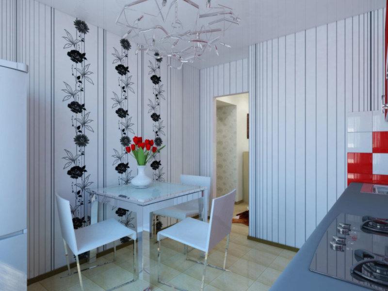 Какие обои наклеить на кухне: выбираем дизайн и цвет для стен