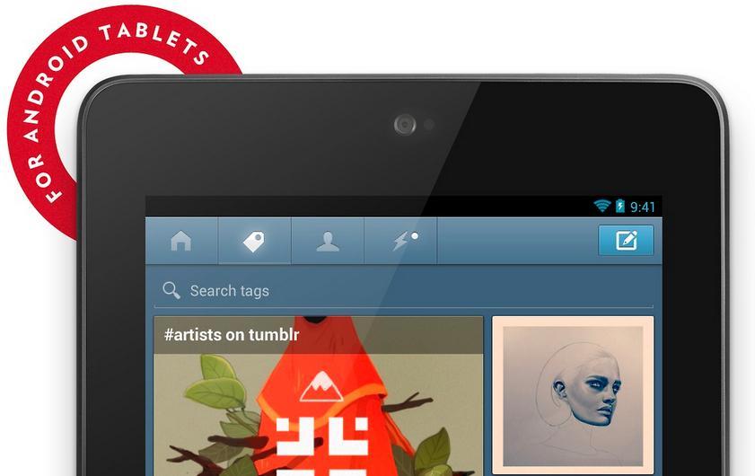 Обновление Tumblr для Android – теперь с поддержкой планшетов