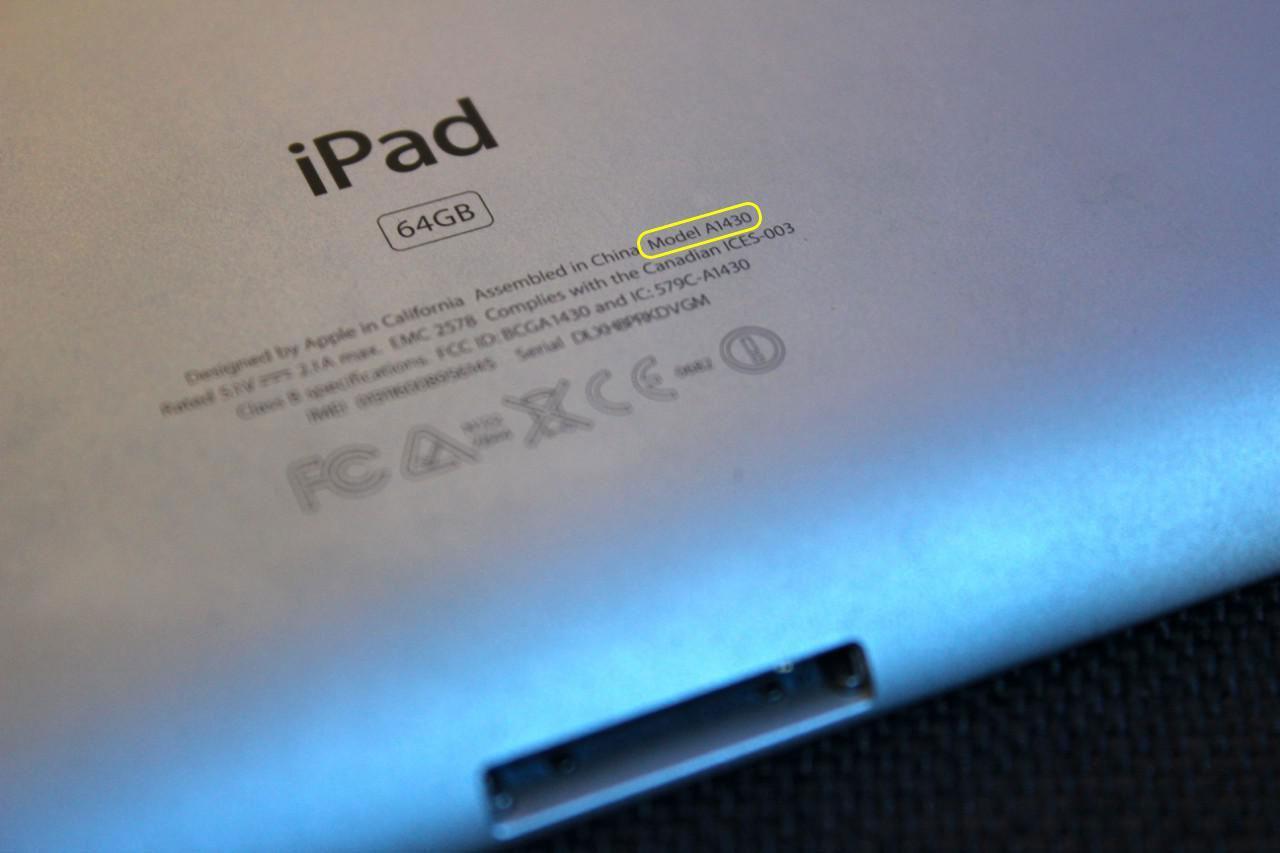 Как узнать какой iPad