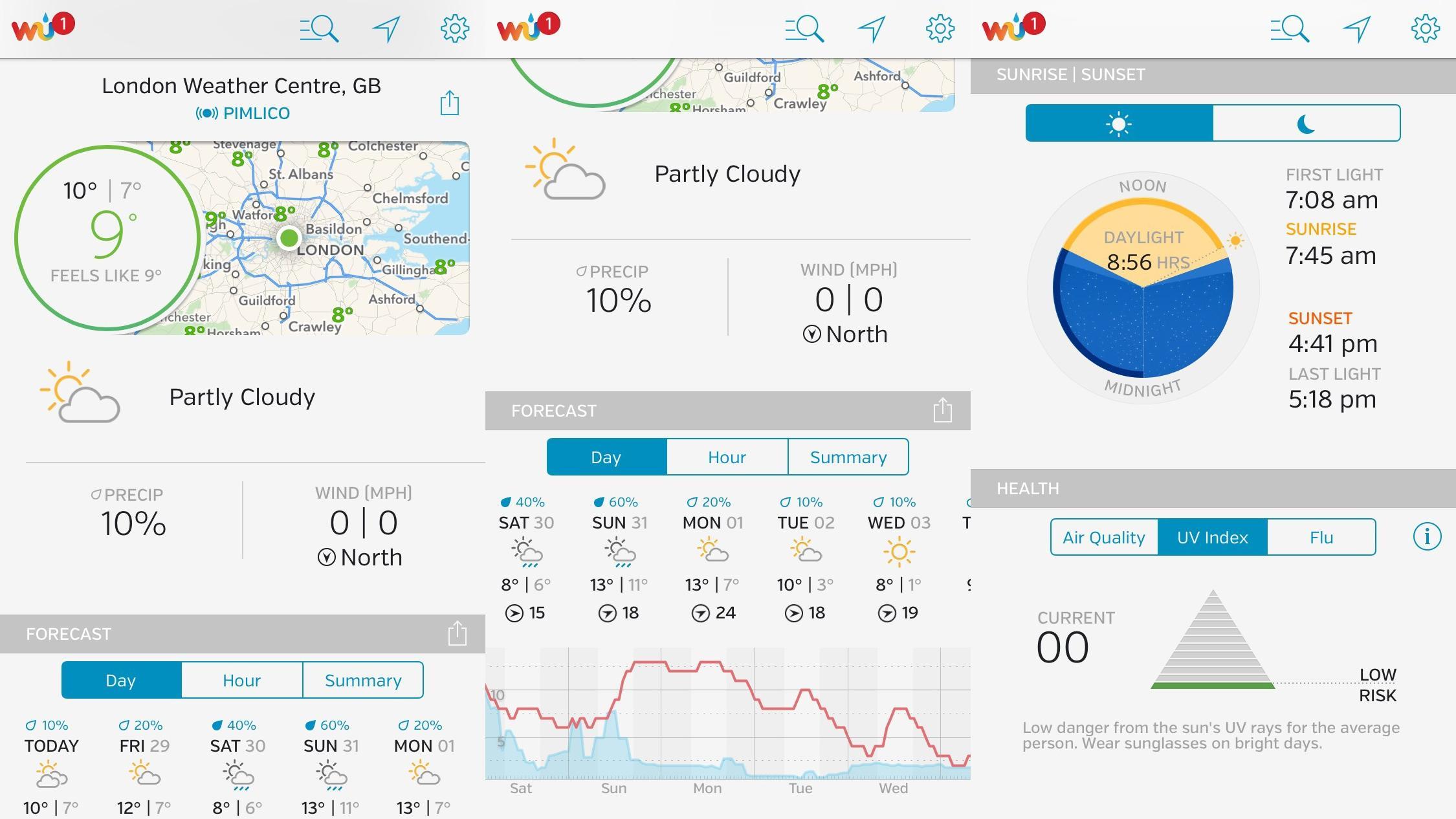 Сайт с самым точным прогнозом погоды: Weather Underground