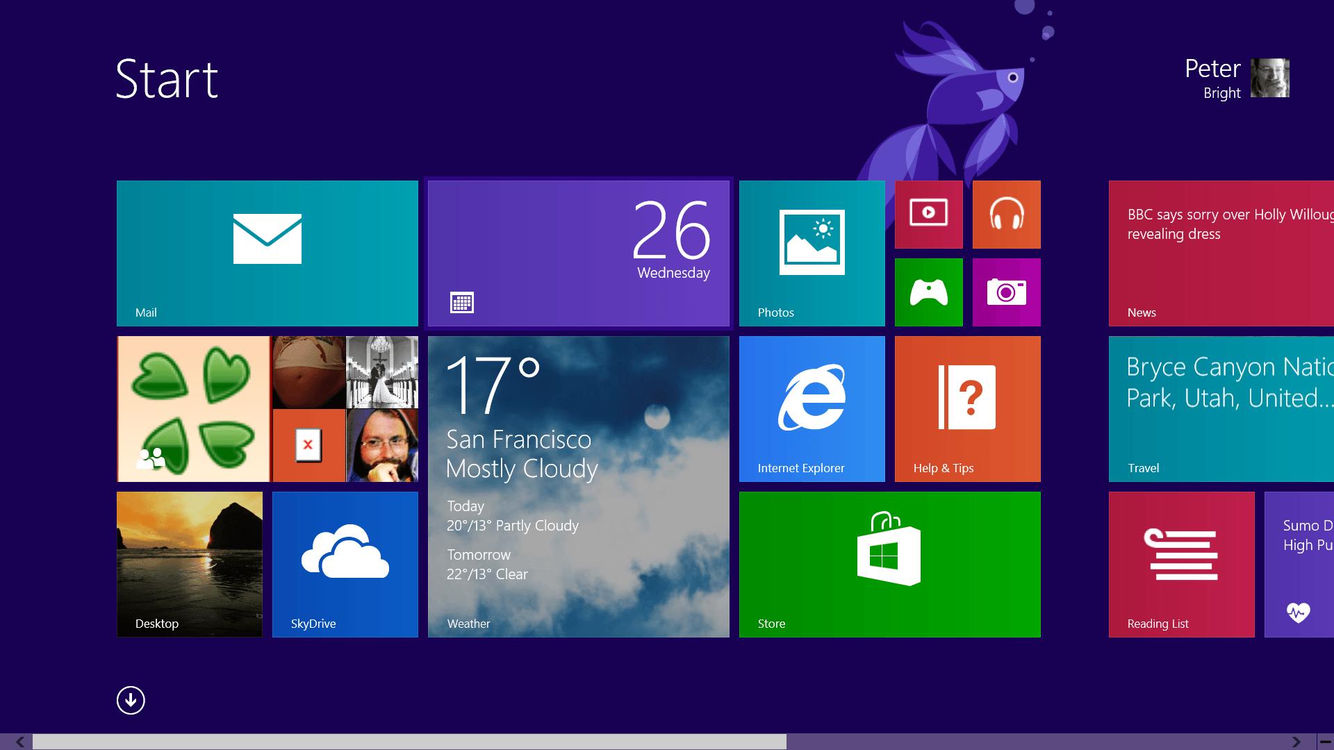 Как получить доступ к Стартовому экрану Windows 8 с рабочего стола