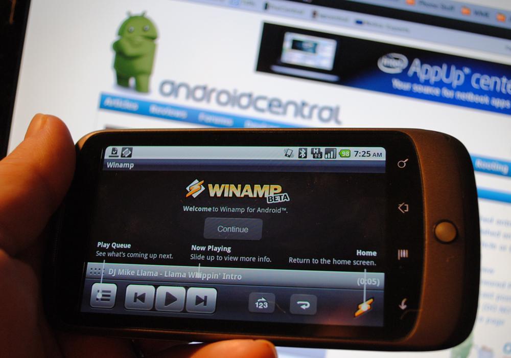 Синхронизация Winamp на Android по Wi-Fi