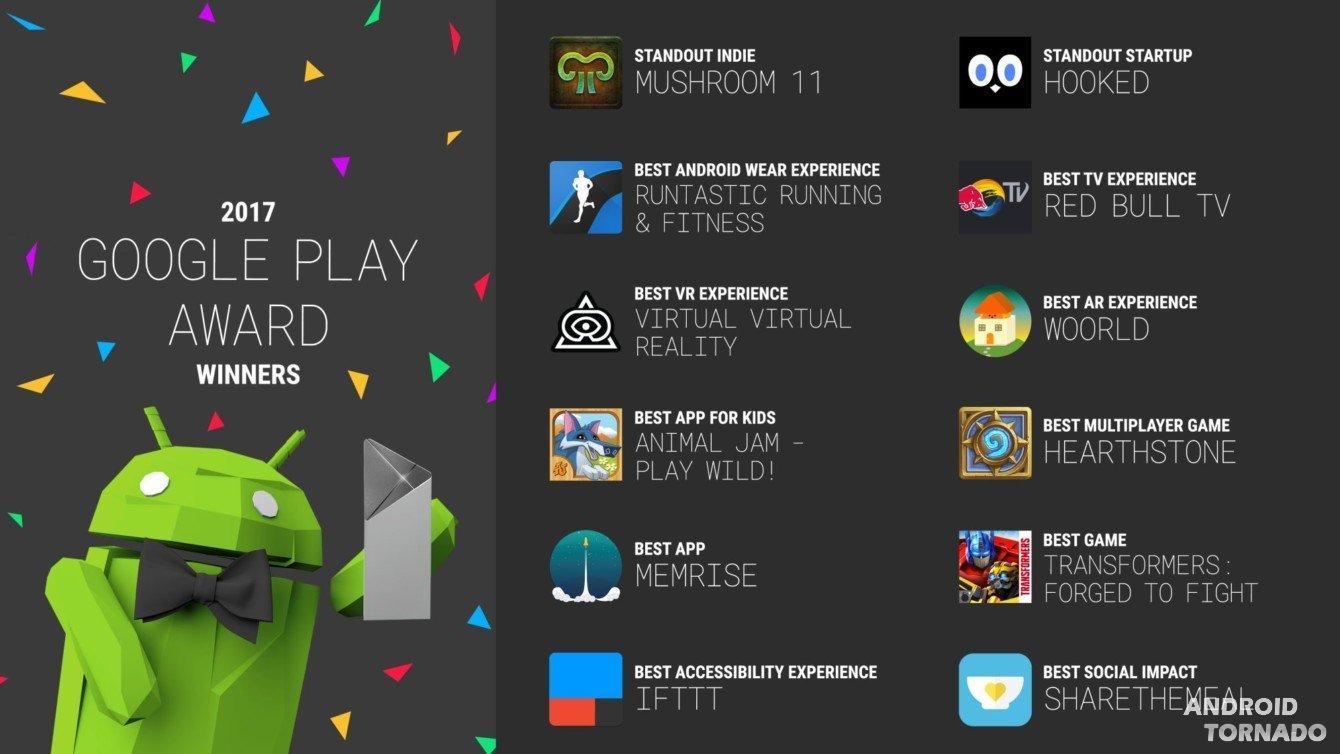 Google назвала лучшие приложения для Android в уходящем году