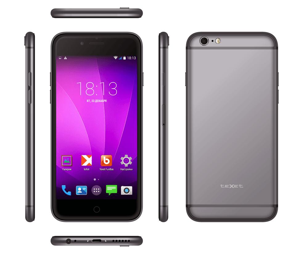 Новая копия iPhone 6 от российского производителя: teXet iX-maxi