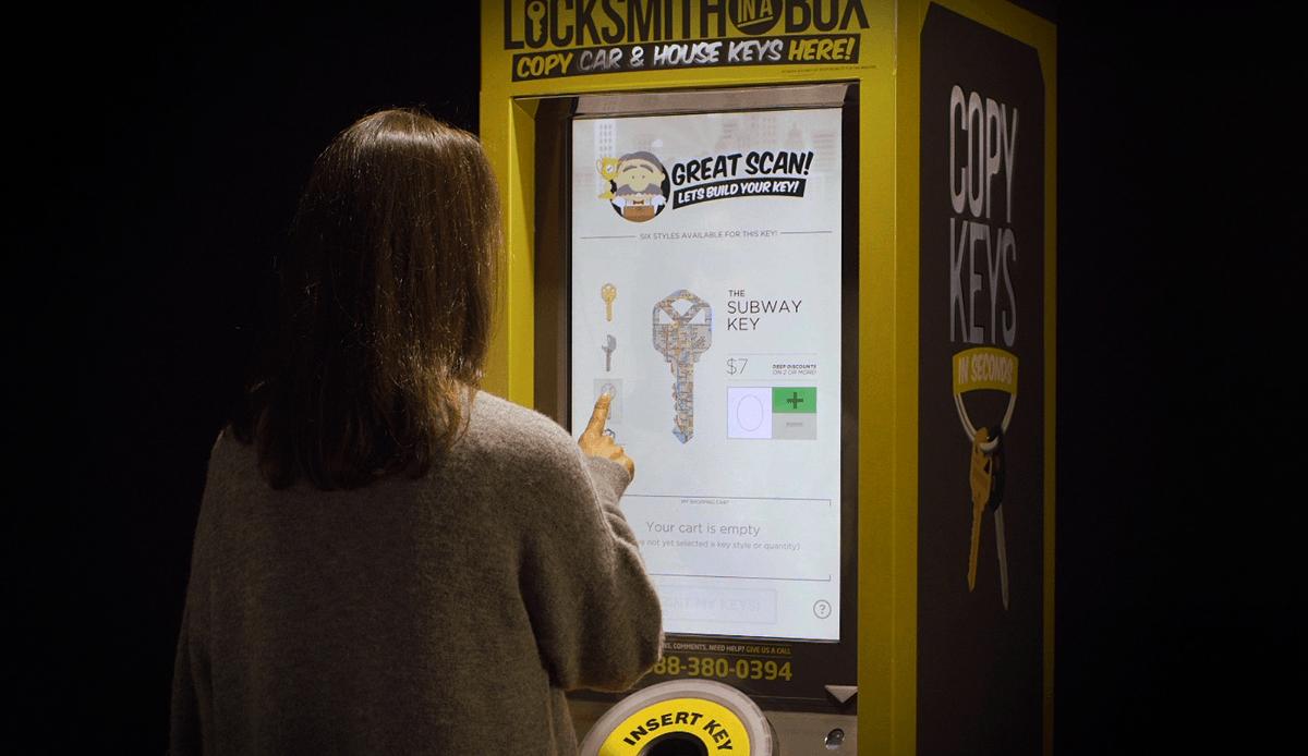 Петь автоматов по изготовлению дубликатов потерянных ключей запущена в США