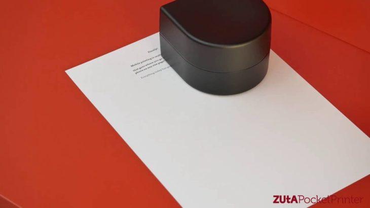 ZUtA Pocket Printer: мобильный принтер для ноутбука, планшета или смартфона