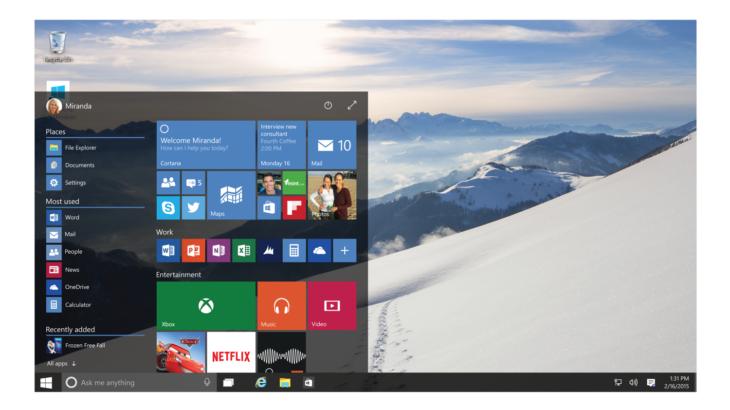 Как сделать меню Пуск Windows 10 похожим на Windows 7
