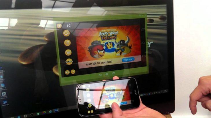 Acer Extend позволит легко передавать картинку с Андроид-устройств на Windows 8