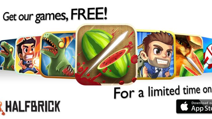 Качаем лучшие игры на iPhone и iPad бесплатно: Праздничная акция от Halfbrick Studio