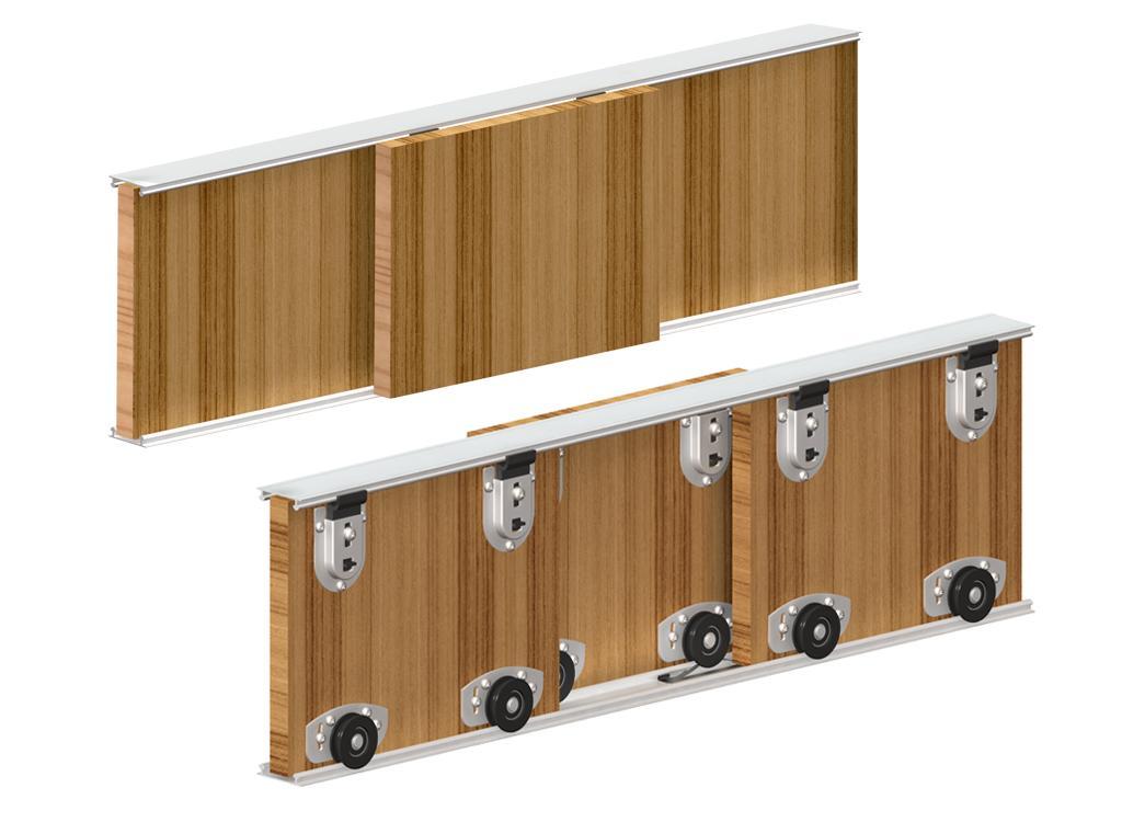 Виды систем раздвижных дверей для шкафов-купе: основные моменты